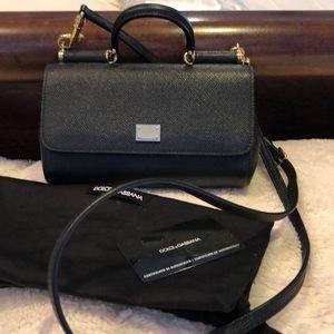 Dolce Gabbana crossbody/satchel Mini black leather